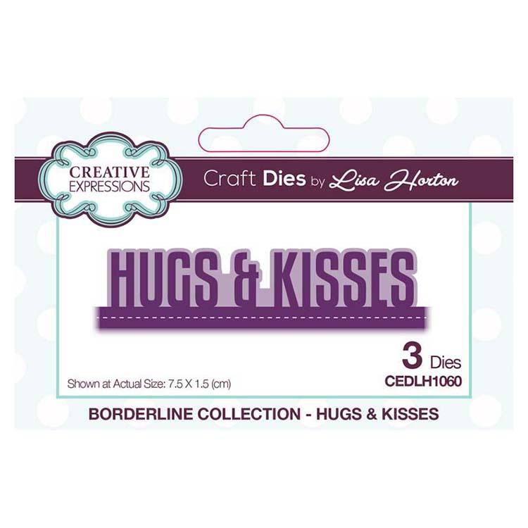 Creative Expressions Borderline Collection Hugs & Kisses