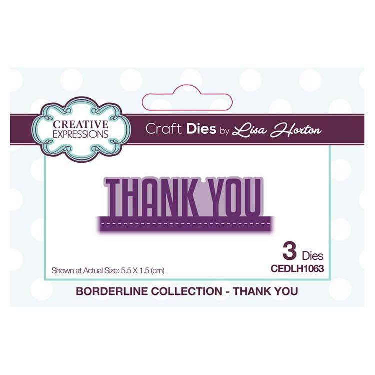 Creative Expressions Borderline Collection Thank You