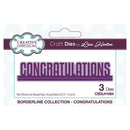 Creative Expressions Borderline Collection Congratulations