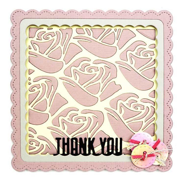 Creative Expressions Tile Collection Deco Roses Craft Die