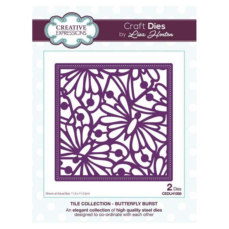 Creative Expressions Tile Collection Butterfly Burst Craft Die