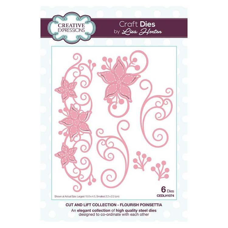 Creative Expressions Cut and Lift Collection Flourish Poinsettia Craft Die