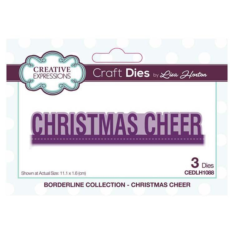 Creative Expressions Borderline Christmas Cheer Craft Die