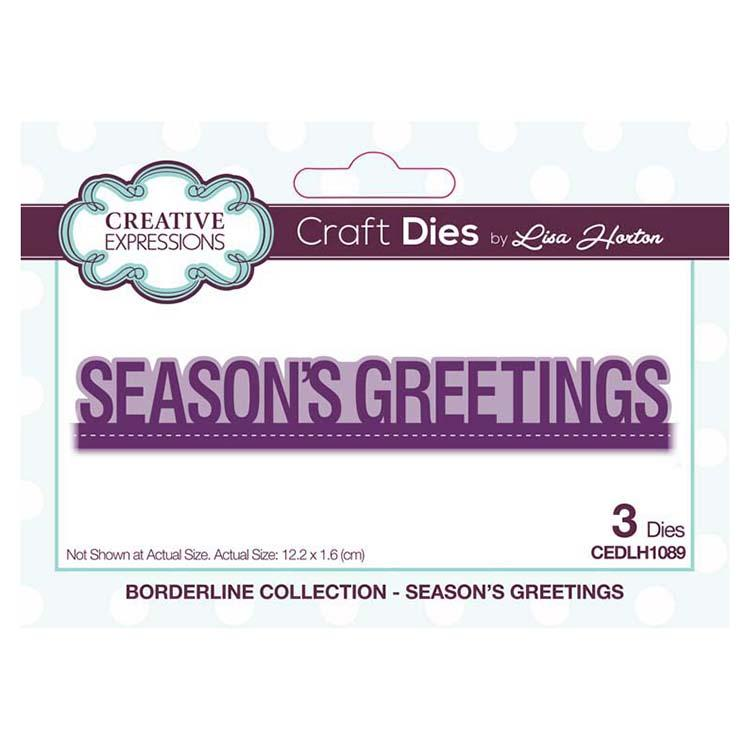 Creative Expressions Borderline Seasons Greetings Craft Die