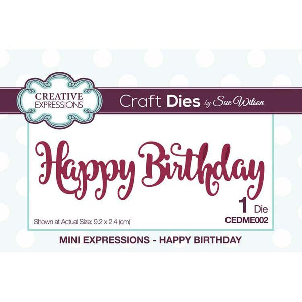 Mini Expressions Happy Birthday