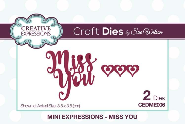Mini Expressions Collection Miss You Die