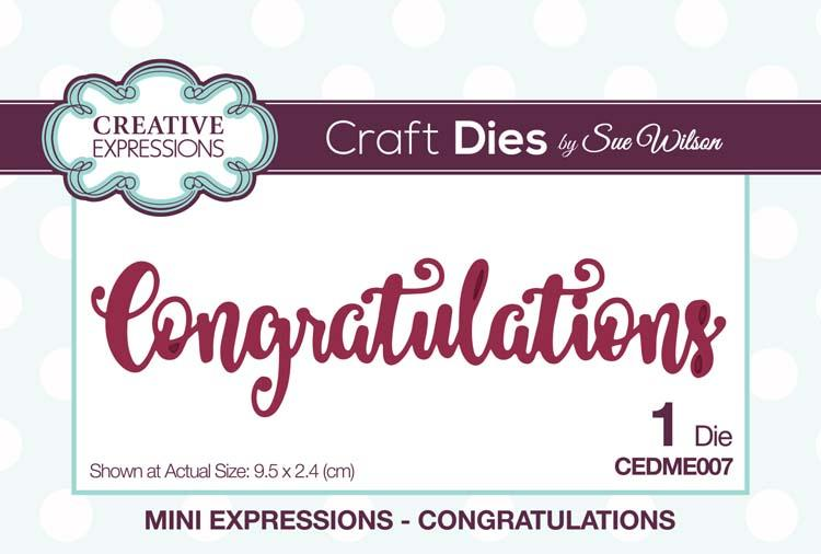 Mini Expressions Congratulations