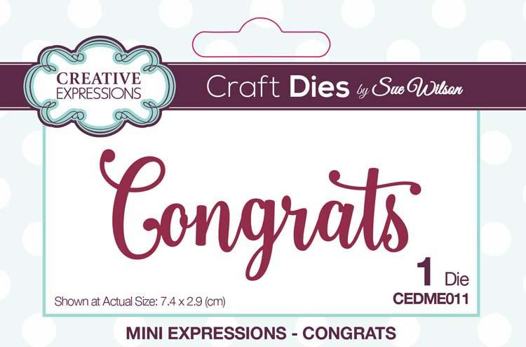 Mini Expressions Collection Congrats Die