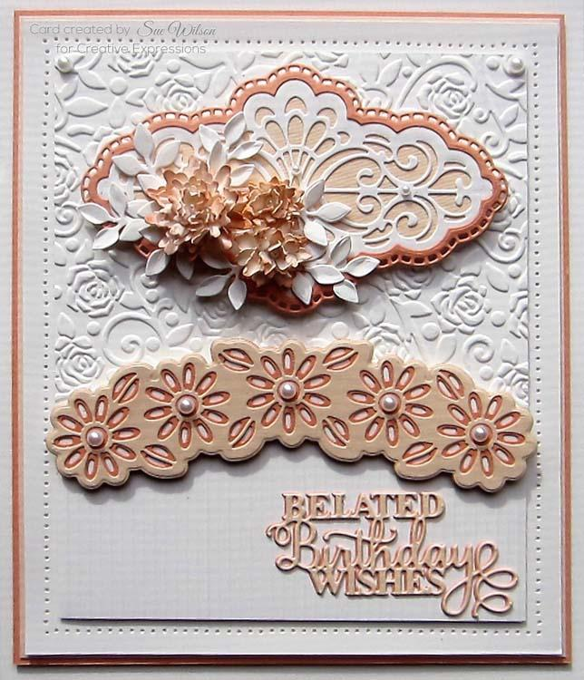 Creative Expressions Dies by Sue Wilson Mini Sentiments Collection Belated Birthday Wishes