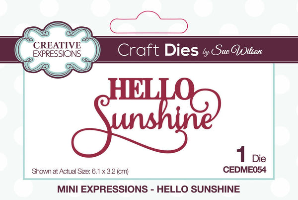 Dies by Sue Wilson Mini Expressions Hello Sunshine