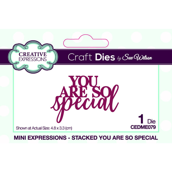 Sue Wilson Mini Expressions Stacked You Are So Special Craft Die