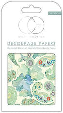 Turquoise Paisley Decoupage Papers