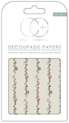 Grey Pebbles Decoupage Papers