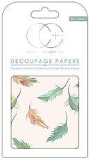 Large Feathers Decoupage Papers