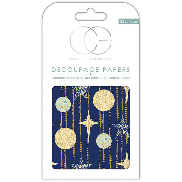 Blue Stars Decoupage Papers
