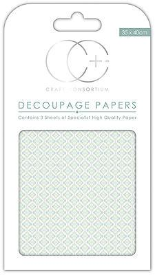 Ceramic Blue Decoupage Papers