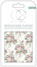 English Rose Garden Decoupage Papers