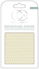 Gold Droplet Decoupage Papers