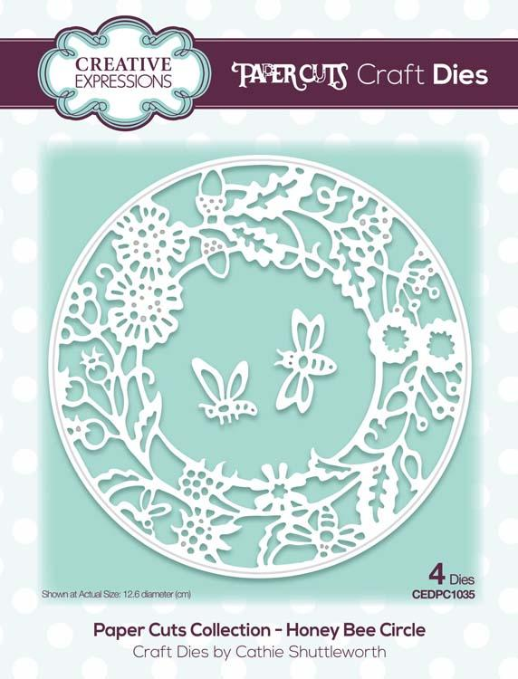 Paper Cuts Collection Honey Bee Circle Craft Die
