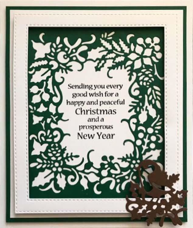 Paper Cuts Collection Christmas Robin Frame Craft Die
