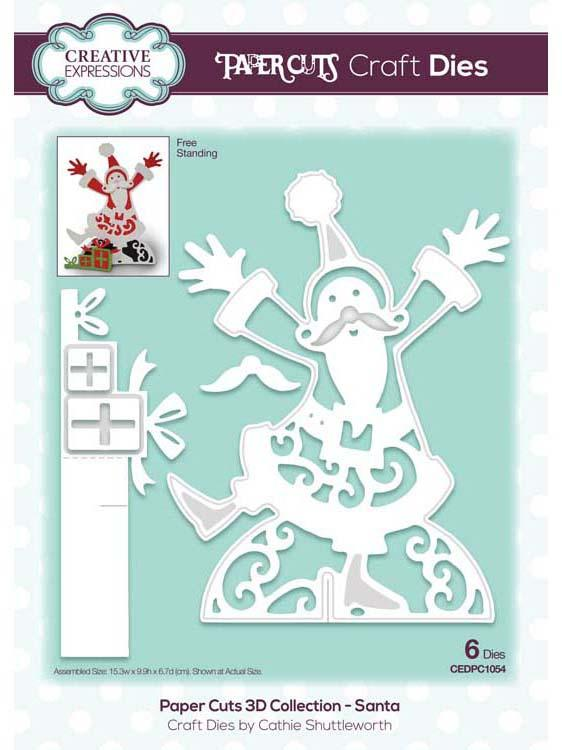 Paper Cuts 3D Collection - Santa