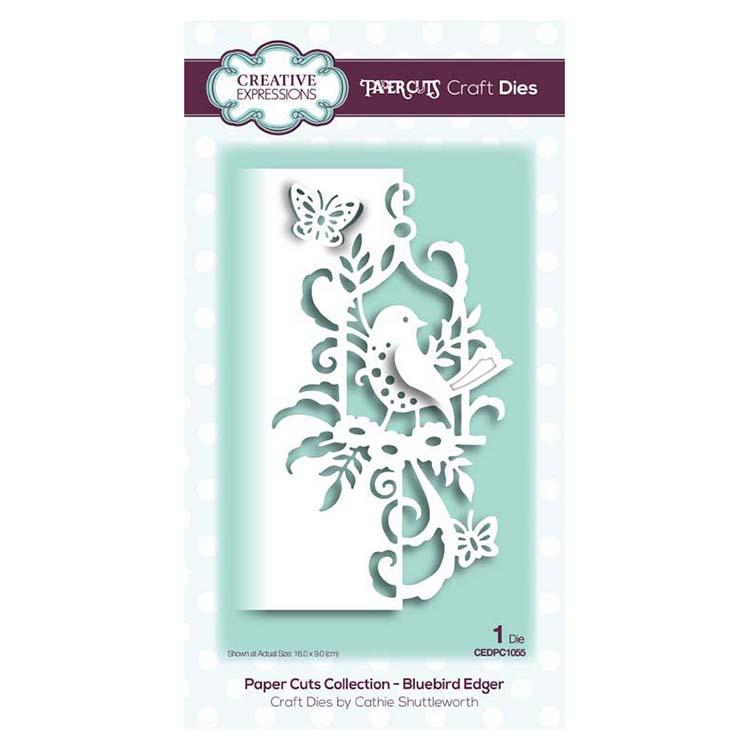 Paper Cuts Collection Bluebird Edger Craft Die