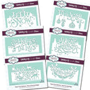 Creative Expressions Christmas Words Edgers Bundle