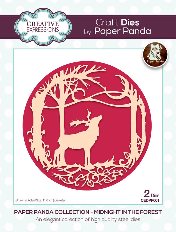 Paper Panda Midnight In The Forest Craft Die