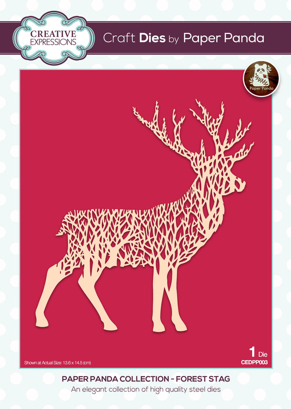 Paper Panda Forest Stag Craft Die