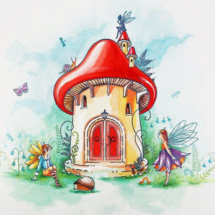 Creative Expressions Toadstool Turret A6 Pre Cut Rubber Stamp