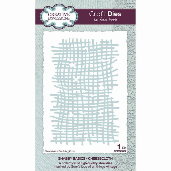 Sam Poole Shabby Basics Cheesecloth Craft Die