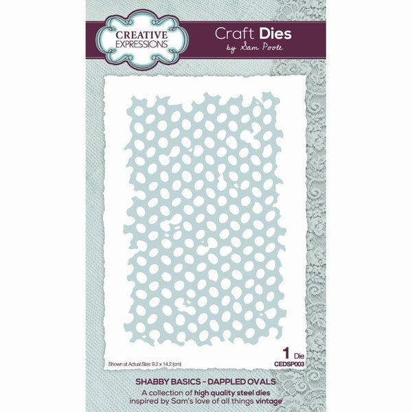 Sam Poole Shabby Basics Dappled Ovals Craft Die