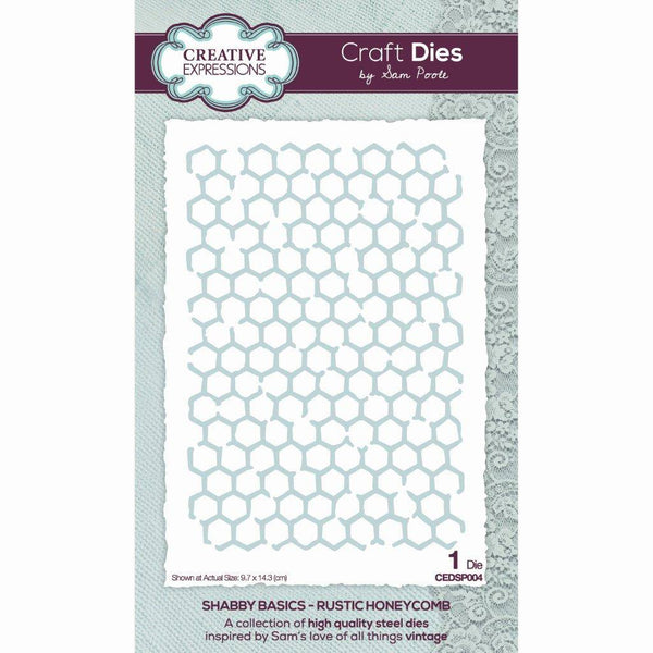 Sam Poole Shabby Basics Rustic Honeycomb Craft Die