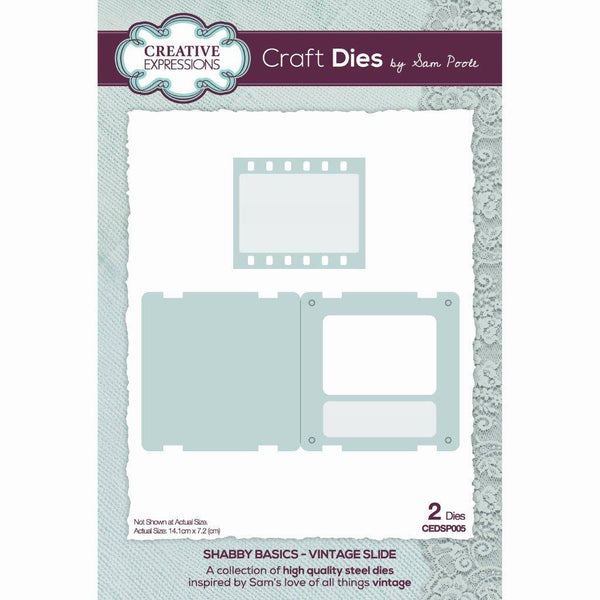 Sam Poole Shabby Basics Vintage Slide Craft Die