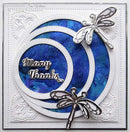 Creative Expressions Dies by Sue Wilson Mini Shadowed Sentiments Many Thanks