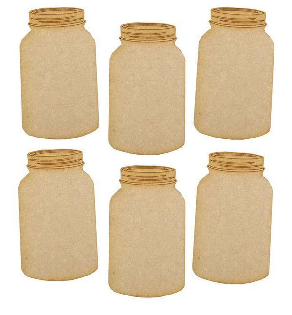 Creative Expressions MDF Jars Pack of 6