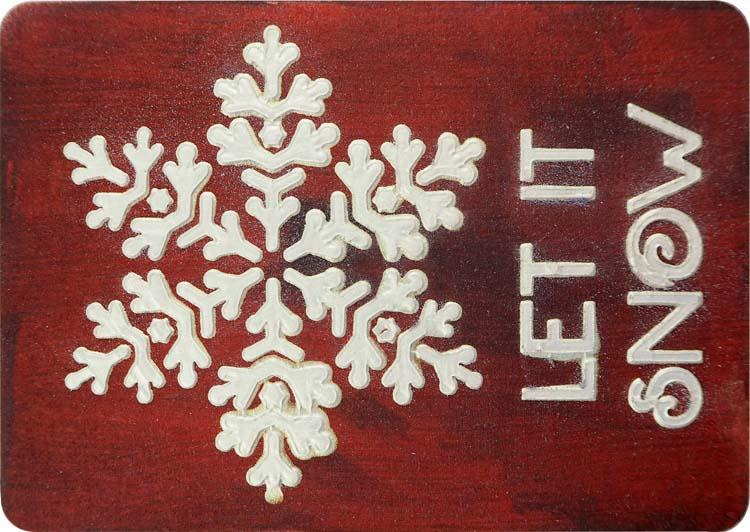 Creative Expressions Mini Stencil Let it Snow