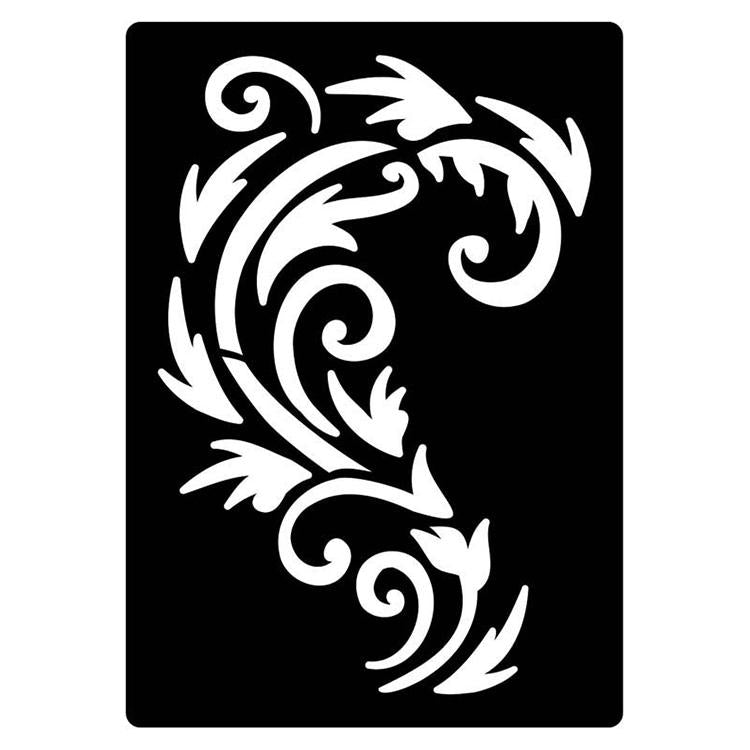Creative Expressions Mini Stencil Regal Flourish