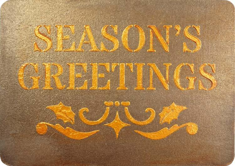 Creative Expressions Mini Stencil Seasons Greetings