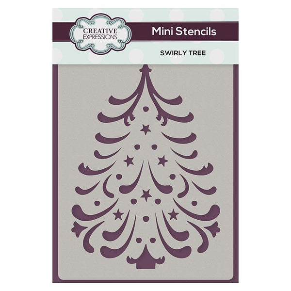Creative Expressions Mini Stencil Swirly Tree