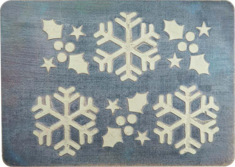 Creative Expressions Mini Stencil Winter Holly