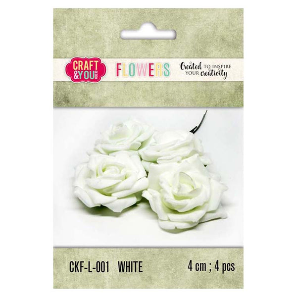 Craft & You Design Foam Roses 4 Cm – 4 Pcs