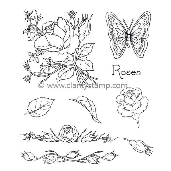 Claritystamp - Jayne's Roses Clear Stamp Set