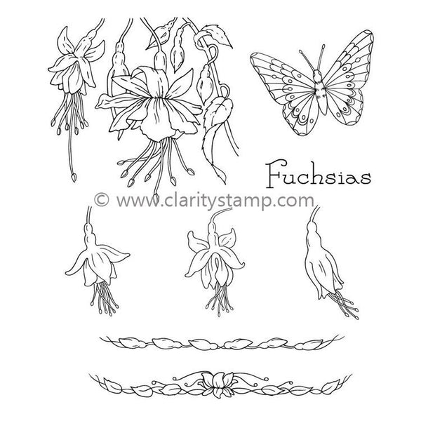 Claritystamp - Jayne's Fuchsias Clear Stamp Set