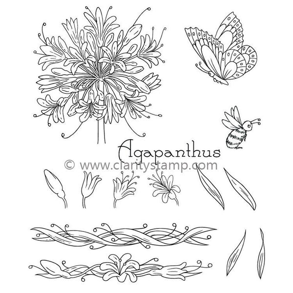 Claritystamp - Jayne's Agapanthus Clear Stamp Set