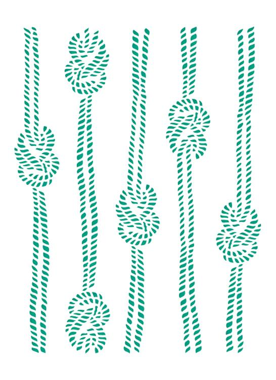 Couture Creations - Embossing Folder - Knotted Ropes