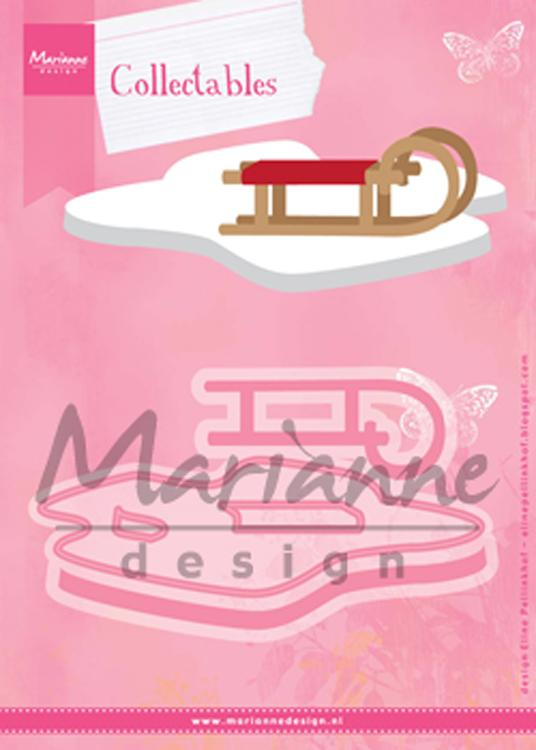 Marianne Design: Collectables Die Set - Eline's Sleigh and Snow