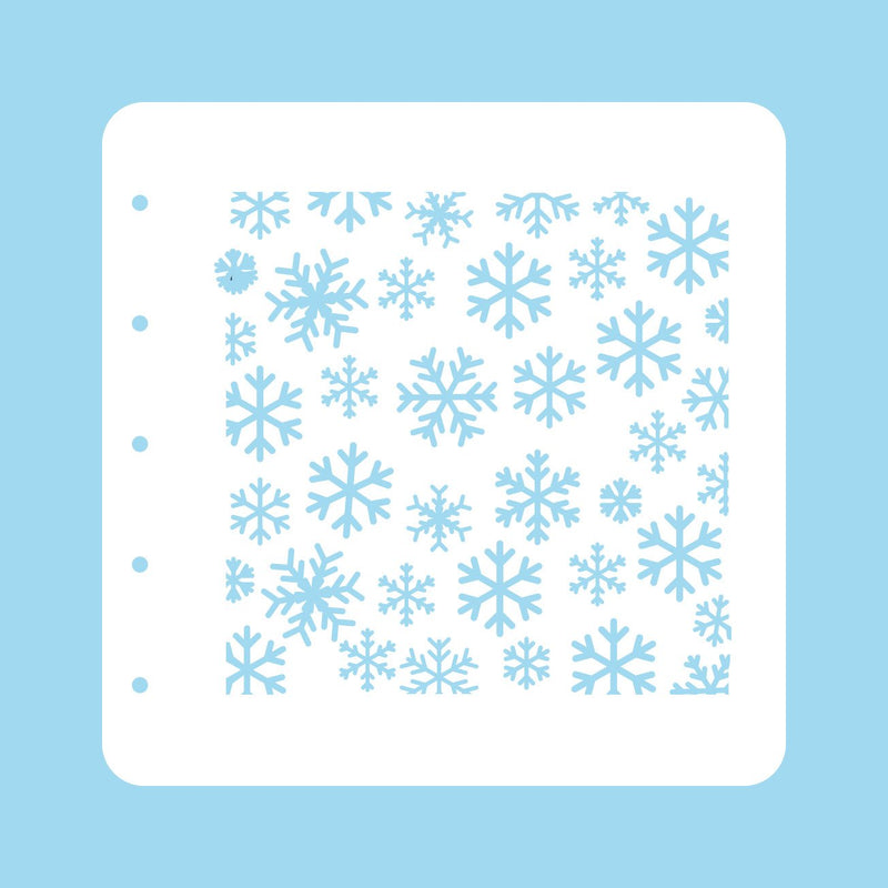 Stencil A6 For Magnetic Colour Set Christmas Time Snowflakes