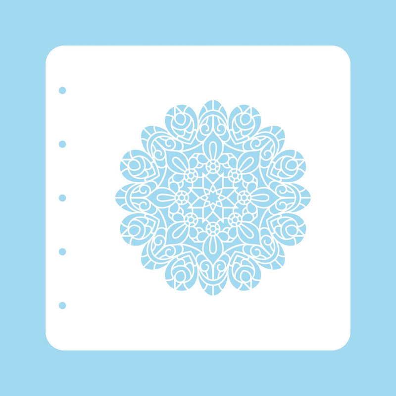Stencil A6 For Magnetic Colour Set Christmas Time Mandala