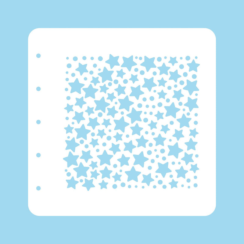Stencil A6 For Magnetic Colour Set Christmas Time Stars and Dots